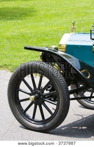 Partial View Of A Vintage Car