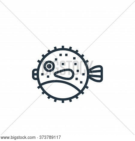 puffer fish icon isolated on white background from seafood collection. puffer fish icon trendy and m
