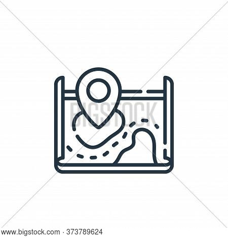 map icon isolated on white background from navigation and maps collection. map icon trendy and moder