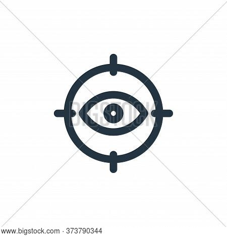 eye icon isolated on white background from web apps seo collection. eye icon trendy and modern eye s