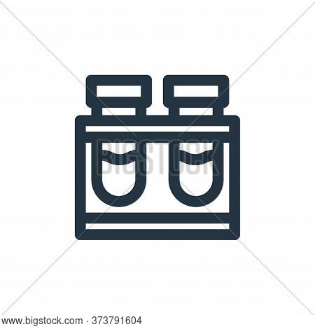 test tube icon isolated on white background from virus transmission collection. test tube icon trend