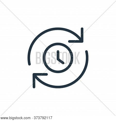queue icon isolated on white background from data transfer collection. queue icon trendy and modern