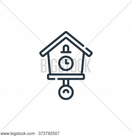 clock icon isolated on white background from calendar and date collection. clock icon trendy and mod