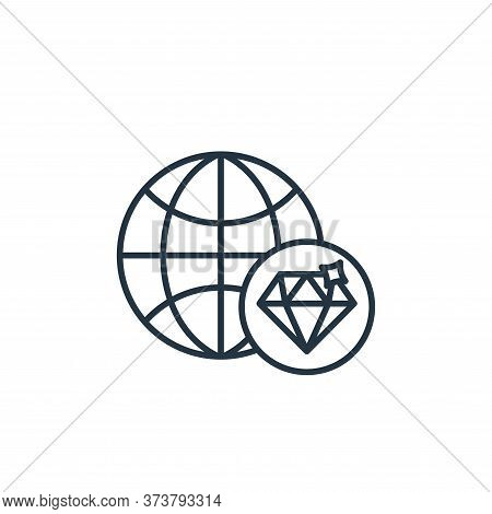 global icon isolated on white background from casino collection. global icon trendy and modern globa