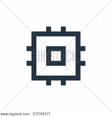 processor icon isolated on white background from user interface collection. processor icon trendy an