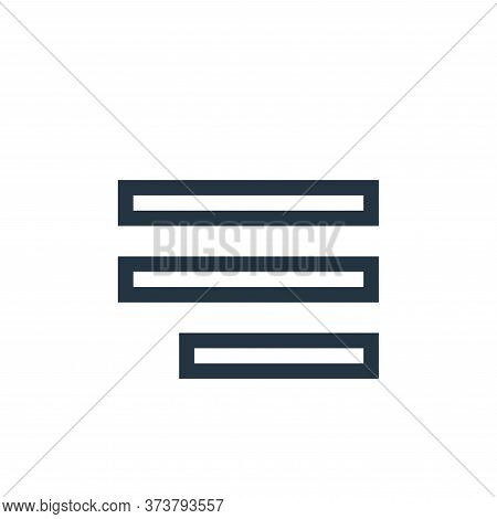 align right icon isolated on white background from text editor collection. align right icon trendy a