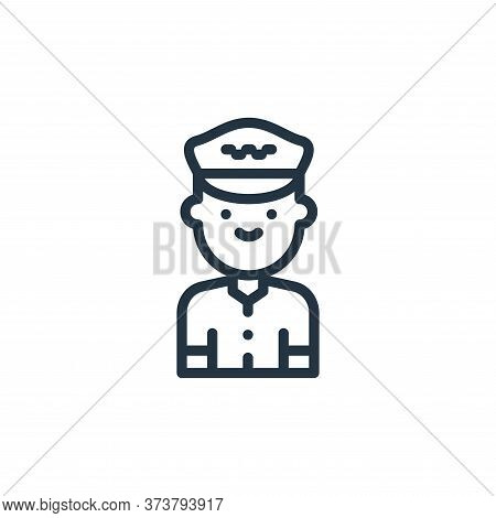 taxi driver icon isolated on white background from taxi service collection. taxi driver icon trendy
