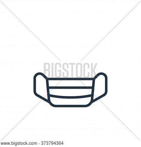 mask icon isolated on white background from pandemic collection. mask icon trendy and modern mask sy
