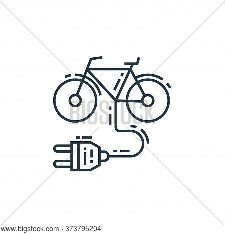 electric bicycle icon isolated on white background from environment and eco collection. electric bic