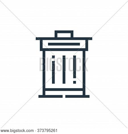 trash bin icon isolated on white background from web essentials collection. trash bin icon trendy an