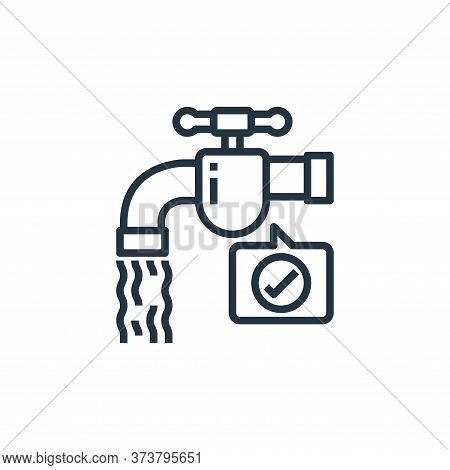 water tap icon isolated on white background from coronavirus collection. water tap icon trendy and m