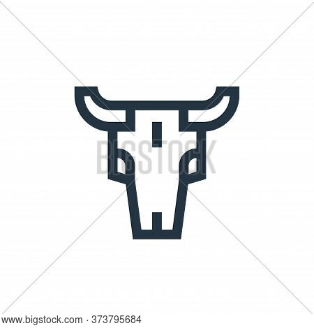 bull skull icon isolated on white background from united states of america collection. bull skull ic
