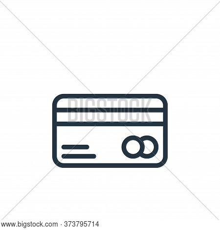 credit card icon isolated on white background from business collection. credit card icon trendy and