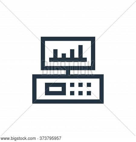 monitor icon isolated on white background from industrial process collection. monitor icon trendy an