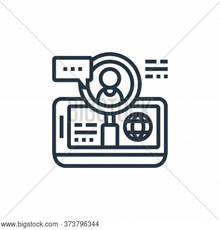 hiring icon isolated on white background from digital transformation collection. hiring icon trendy