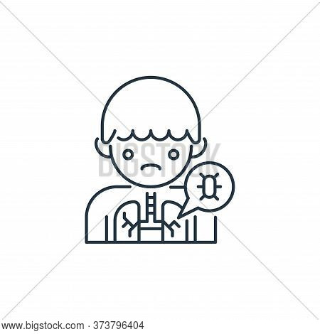 lung icon isolated on white background from virus transmission collection. lung icon trendy and mode