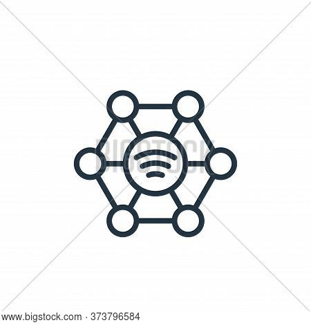community icon isolated on white background from internet of things collection. community icon trend
