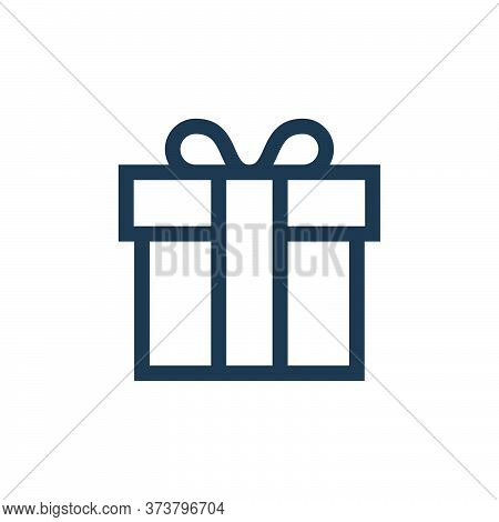 gift box icon isolated on white background from web essentials collection. gift box icon trendy and