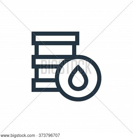 oil barrel icon isolated on white background from mother earth day collection. oil barrel icon trend