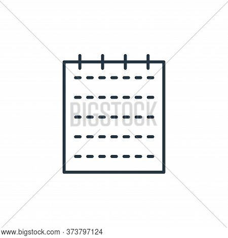 notepad icon isolated on white background from stationery collection. notepad icon trendy and modern