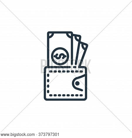 wallet icon isolated on white background from banking and money collection. wallet icon trendy and m