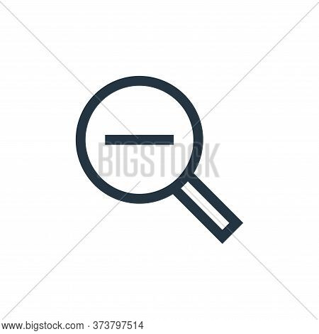 zoom out icon isolated on white background from web essentials collection. zoom out icon trendy and