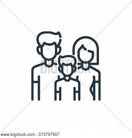 families icon isolated on white background from insurance collection. families icon trendy and moder