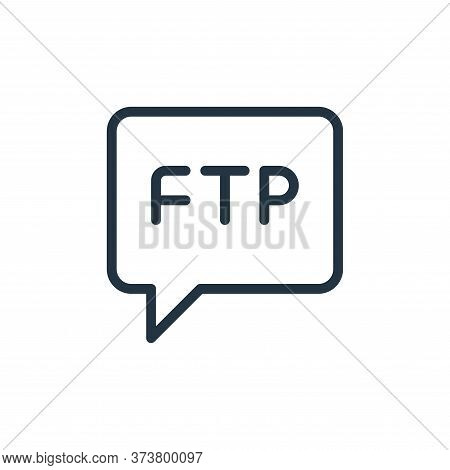 chat icon isolated on white background from data transfer collection. chat icon trendy and modern ch