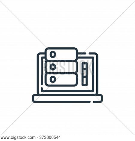 monitoring icon isolated on white background from database and servers collection. monitoring icon t