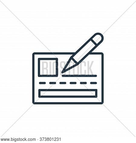 bank check icon isolated on white background from shopping line icons collection. bank check icon tr