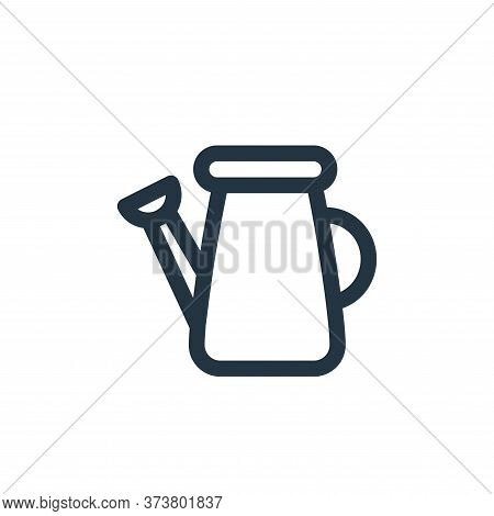 watering can icon isolated on white background from landscaping equipment collection. watering can i