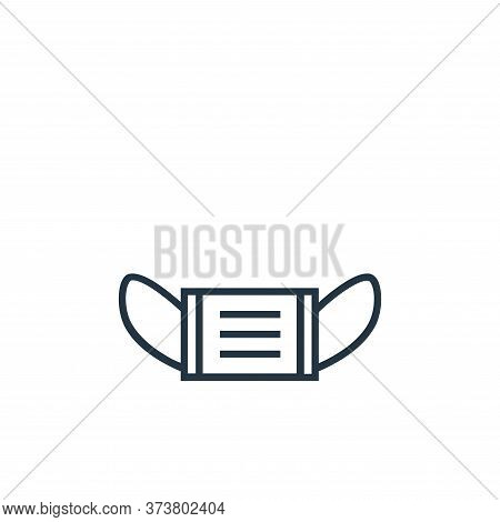 mask icon isolated on white background from medical tools collection. mask icon trendy and modern ma