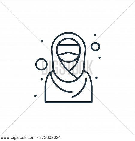 hijab icon isolated on white background from islam and ramadan collection. hijab icon trendy and mod