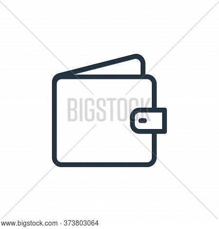 wallet icon isolated on white background from banking and finance flat icons collection. wallet icon