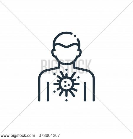 person icon isolated on white background from virus spread collection. person icon trendy and modern