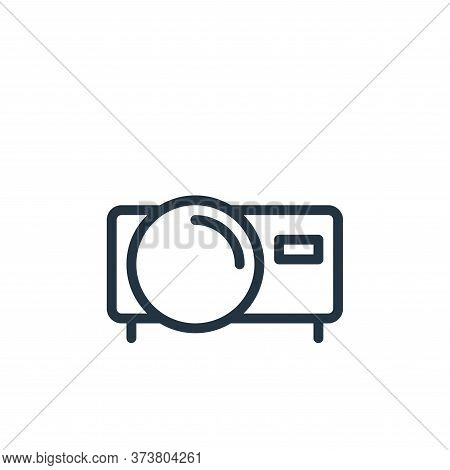 film icon isolated on white background from work office supply collection. film icon trendy and mode