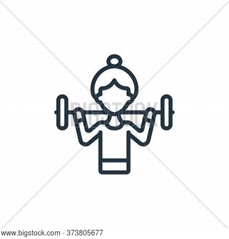 woman icon isolated on white background from womens day collection. woman icon trendy and modern wom