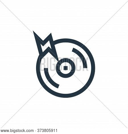 cd icon isolated on white background from rock and roll collection. cd icon trendy and modern cd sym