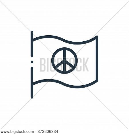 pacifism icon isolated on white background from world love collection. pacifism icon trendy and mode
