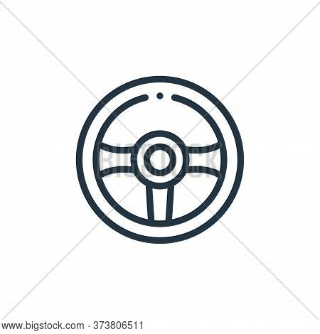 steering wheel icon isolated on white background from taxi service collection. steering wheel icon t