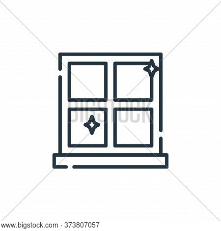 window icon isolated on white background from cleaning collection. window icon trendy and modern win