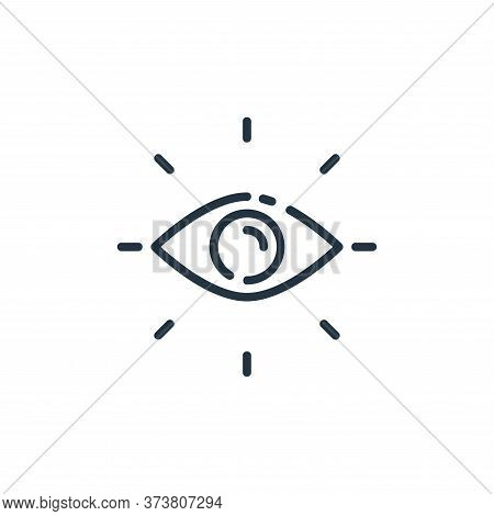 vision icon isolated on white background from user interface collection. vision icon trendy and mode