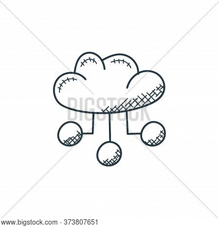 cloud computing icon isolated on white background from technology collection. cloud computing icon t