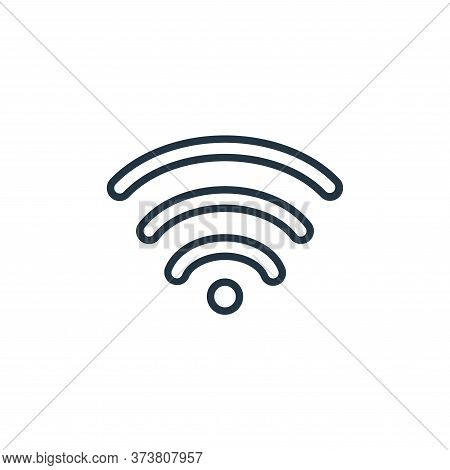 wi fi icon isolated on white background from communication collection. wi fi icon trendy and modern
