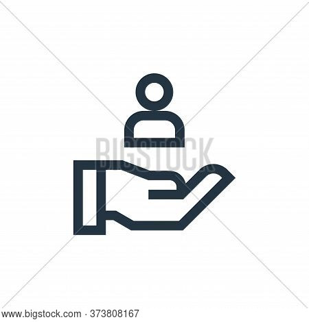 customer icon isolated on white background from marketing and growth collection. customer icon trend