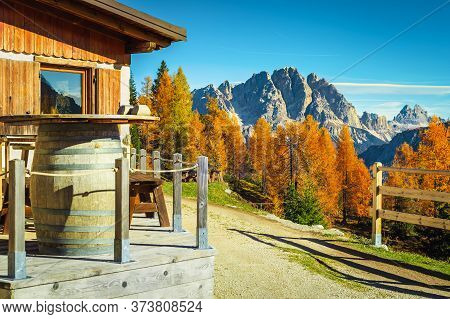 Cozy Accommodation Place With Wooden House In The Mountains. Fantastic Recreation And Hiking Locatio