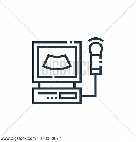 electrocardiogram icon isolated on white background from medical services collection. electrocardiog