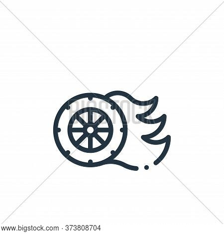 tire icon isolated on white background from autoracing collection. tire icon trendy and modern tire
