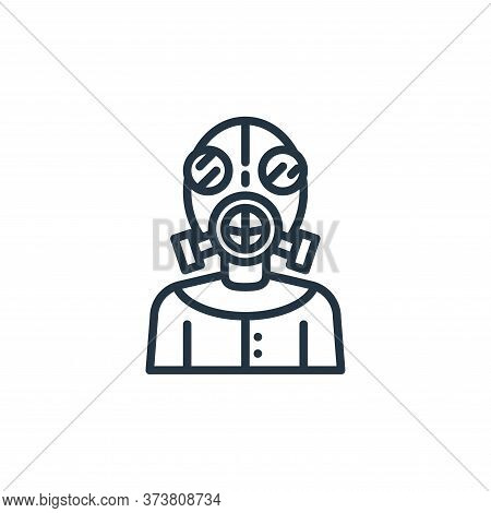 mask icon isolated on white background from virus collection. mask icon trendy and modern mask symbo