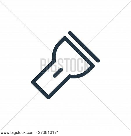 flashlight icon isolated on white background from electronics collection. flashlight icon trendy and